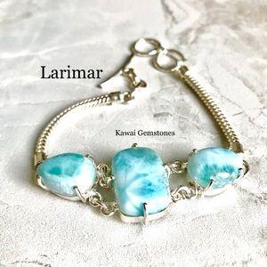 Jewelry - SALE✨Larimar Bracelet✨Natural Gemstones